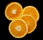 Orange in einem nützlichen vega Vitamine des reifen Sommers des Schnittes Stockfotos