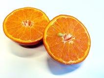 Orange einschneiden zwei Lizenzfreie Stockfotos