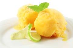 Orange Eiscreme lizenzfreies stockbild