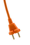 Orange electric plug Royalty Free Stock Image