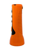 Orange Electric Pocket Flashlight on white blackground Stock Photography