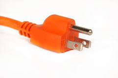 Orange electric power cord s Stock Image