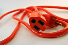 Orange Electrical Cord Stock Photo