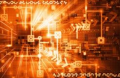 Orange Electronic Background Stock Photos