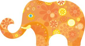 Orange elephant Royalty Free Stock Photography