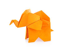 Orange elephant of origami Royalty Free Stock Photo