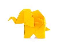 Orange elephant of origami. Royalty Free Stock Photos