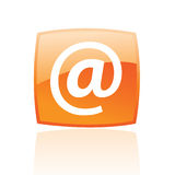 Orange email Royalty Free Stock Photos