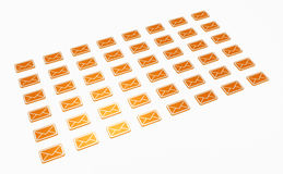 Orange Emails Stock Photography