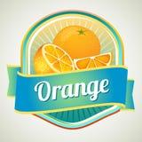 Orange emblem Arkivfoto