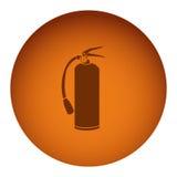 Orange emblem extinguisher icon. Illustraction design Royalty Free Stock Image