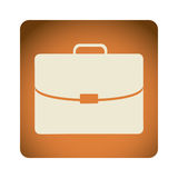 orange emblem suitcase icon Stock Image