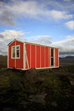 Orange emergency hut Stock Photography