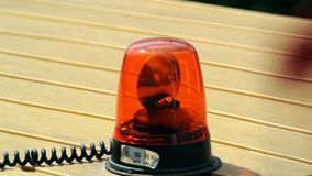 Orange emergency lights stock footage
