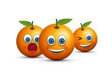 Orange emoji set Stock Image