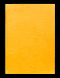 Orange empty A4 paper isolated on black Royalty Free Stock Photography