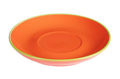 Orange empty plate Royalty Free Stock Image