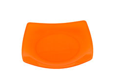 Orange empty plate Royalty Free Stock Photography