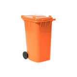 Orange empty recycling bin Royalty Free Stock Images