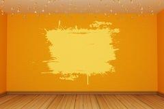 Orange empty room Stock Photos