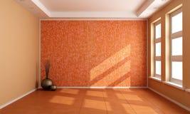 Orange empty room Royalty Free Stock Photo