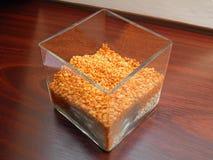 Orange en cristal Photographie stock libre de droits