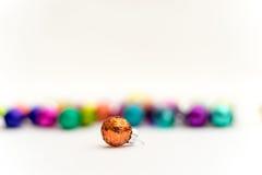 Orange en verre 3 de décoration de Noël Photographie stock libre de droits