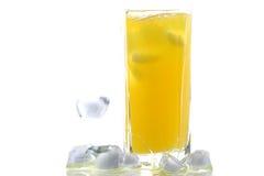 orange en verre de jus photographie stock libre de droits