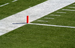 Orange Endzone Marker Royalty Free Stock Photography