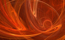 Orange energy fractal pattern Stock Photo