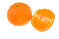 Orange entière et à moitié orange Photographie stock libre de droits
