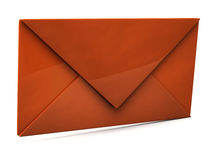 Orange envelope Royalty Free Stock Image