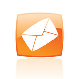 Orange envelope Stock Photography