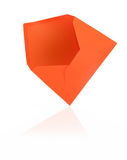 Orange envelope with reflection Royalty Free Stock Photo
