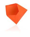 Orange envelope with reflection royalty free stock photo