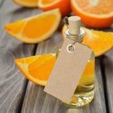 Orange essential oil Stock Images