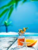 Orange essential oil treatment Stock Image