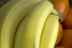 Orange et banane Images libres de droits