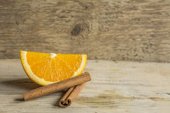 Orange et cannelle photographie stock