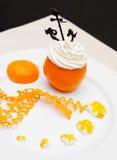 Orange et crème Images stock