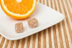 Orange et sucre Images stock