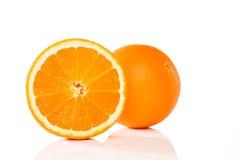 Orange et une moitié Image stock