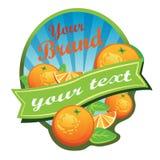 Orange etikett Arkivfoton