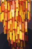 Orange etikett av att hänga ner Royaltyfri Bild