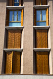 Orange europe  italy  lombardy       in  the milano old   window Stock Photography