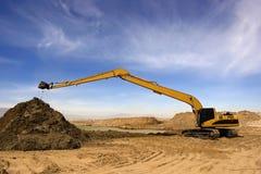 Orange excavator Stock Image