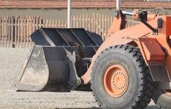 Orange excavator Stock Photography