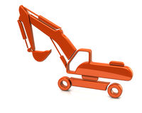 Orange excavator Stock Photography
