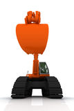 Orange Exkavator Lizenzfreies Stockbild