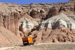 Orange Expedition RV Royalty Free Stock Image